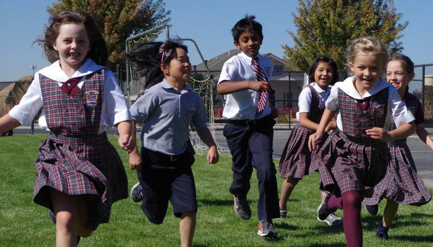 Challenger Students Running