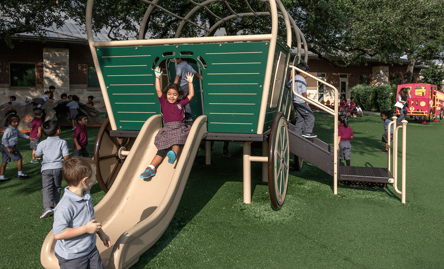 Preschool Slide | Challenger School - Avery Ranch | Private School In Austin, Texas