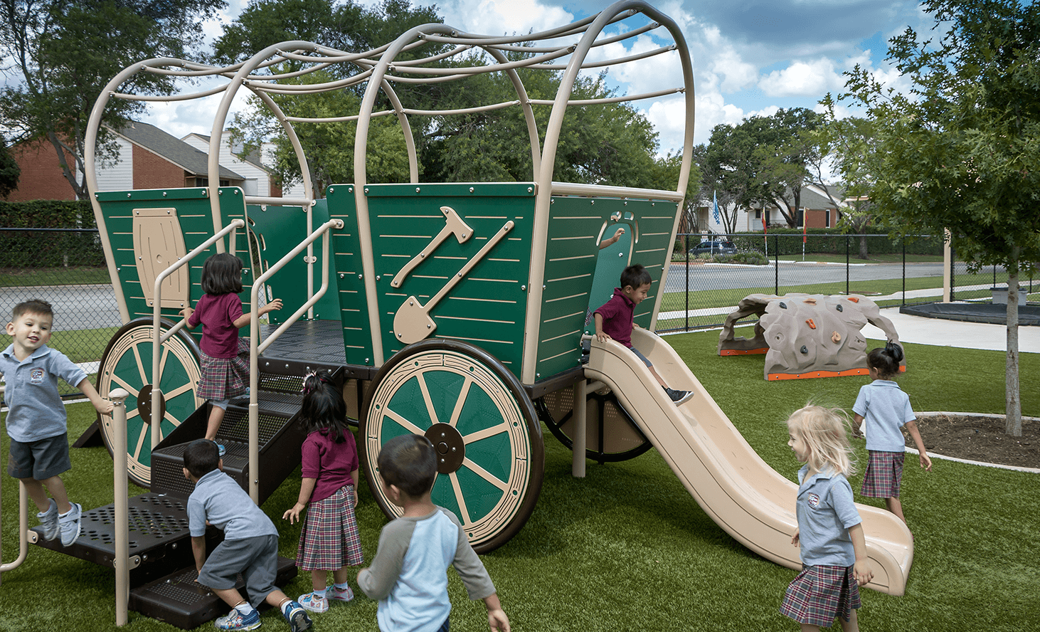 Kindergarten Playground | Challenger School - Pond Springs | Private School In Austin, Texas