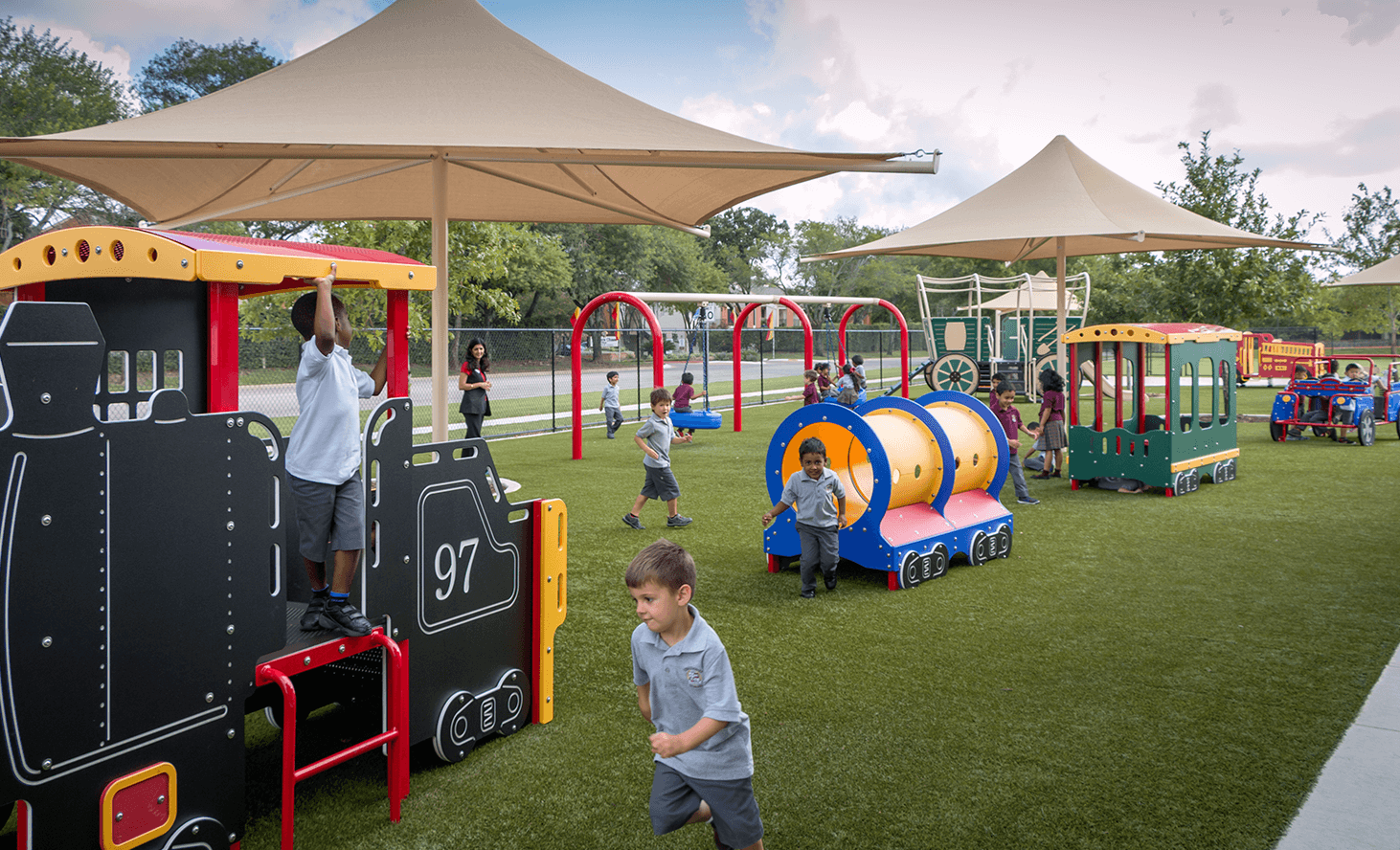 Preschool Playground | Challenger School - Pond Springs | Private School In Austin, Texas