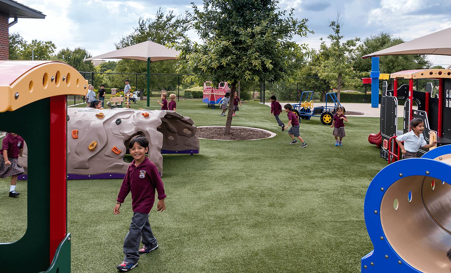 Preschool Playground Fun | Challenger School - Round Rock | Private School In Round Rock, Texas