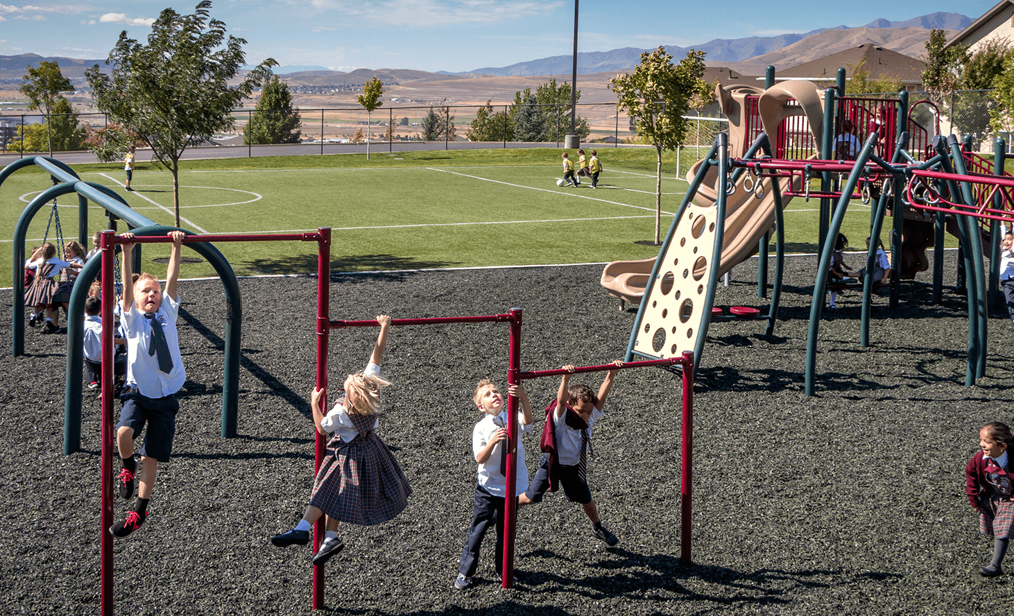 Beautiful Playground | Challenger School - Traverse Mountain | Private School In Lehi, Utah