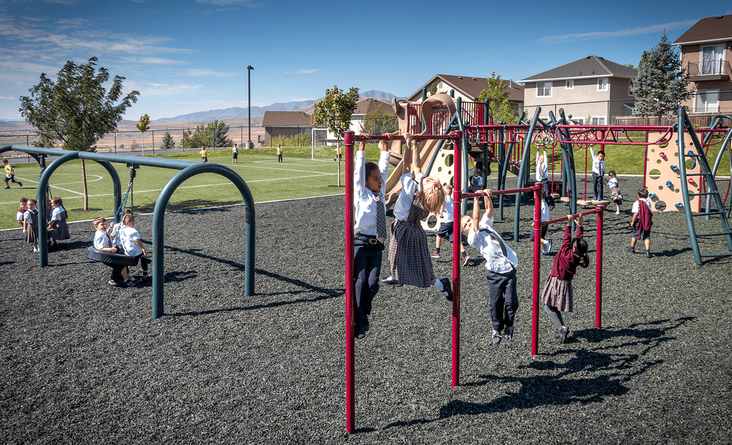 Playground Monkey Bars | Challenger School - Traverse Mountain | Private School In Lehi, Utah
