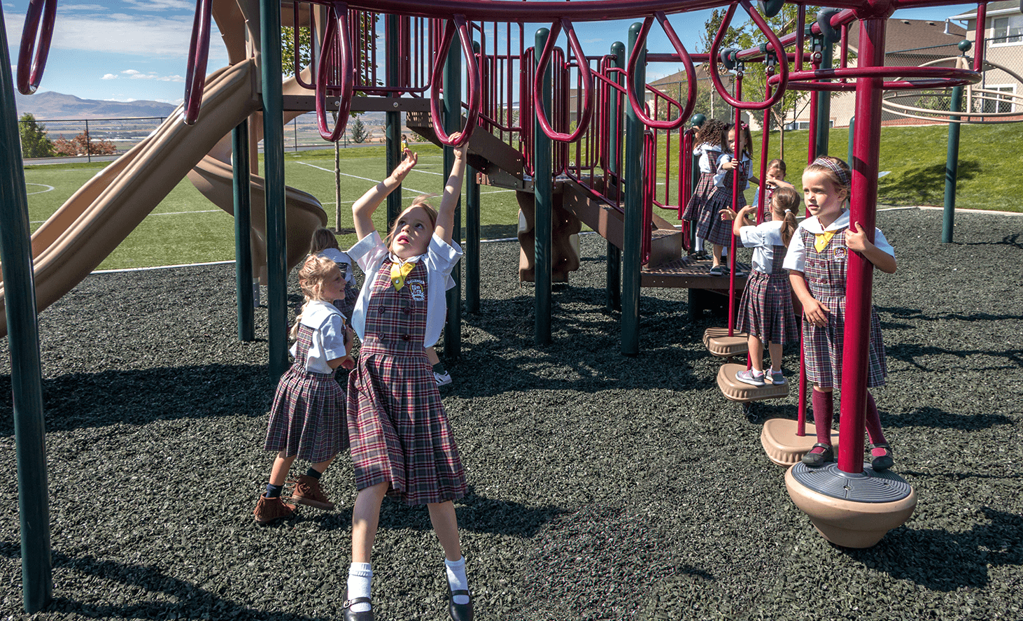 Elementary Playground Play Structure | Challenger School - Traverse Mountain | Private School In Lehi, Utah