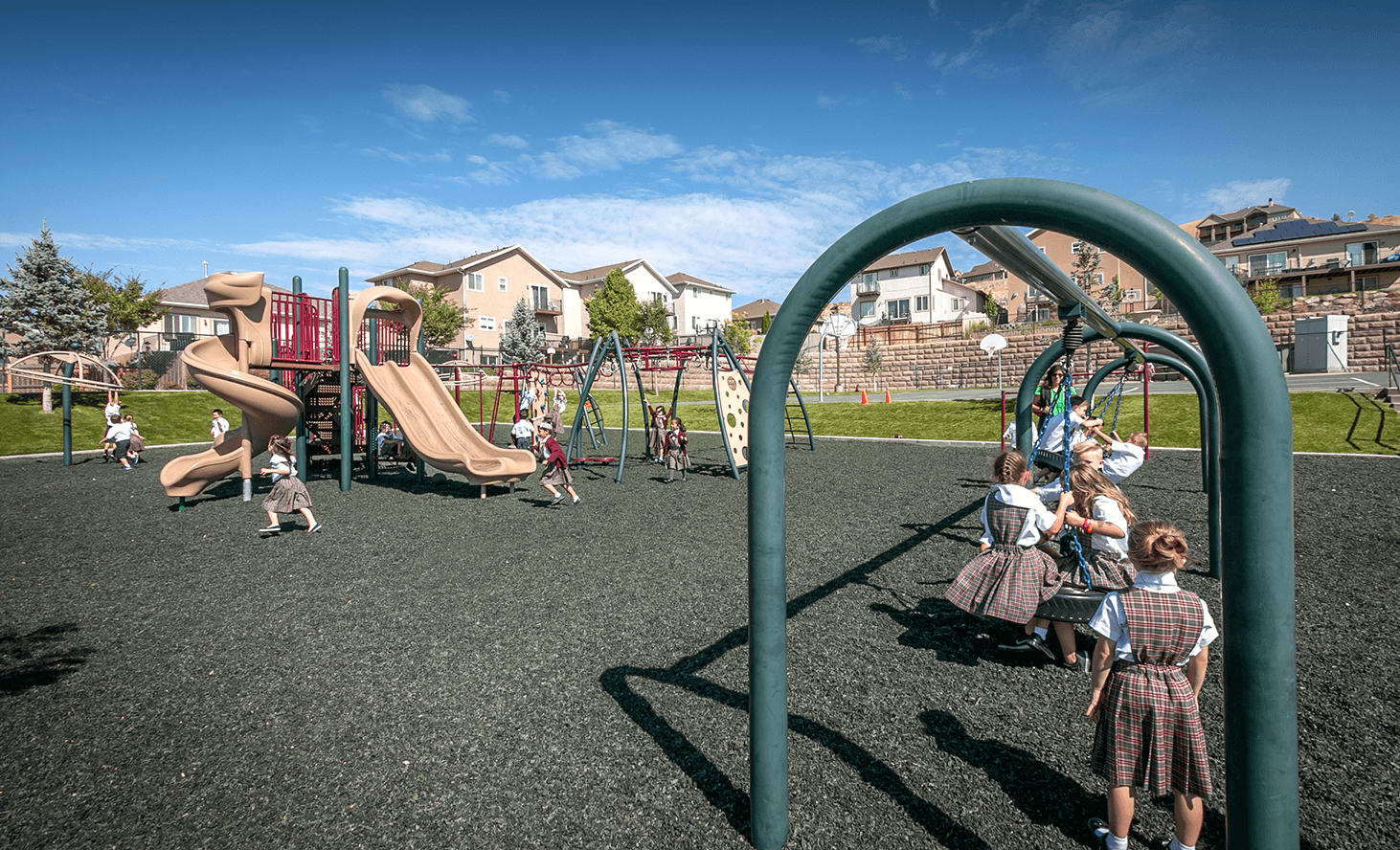 Playground Swings | Challenger School - Traverse Mountain | Private School In Lehi, Utah