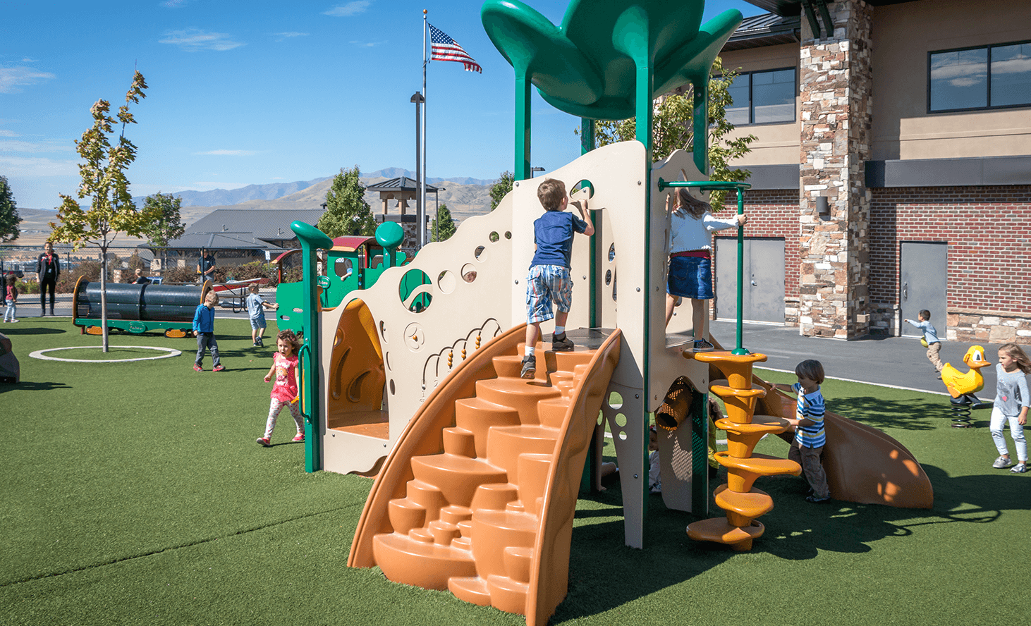 Preschool Playground | Challenger School - Traverse Mountain | Private School In Lehi, Utah