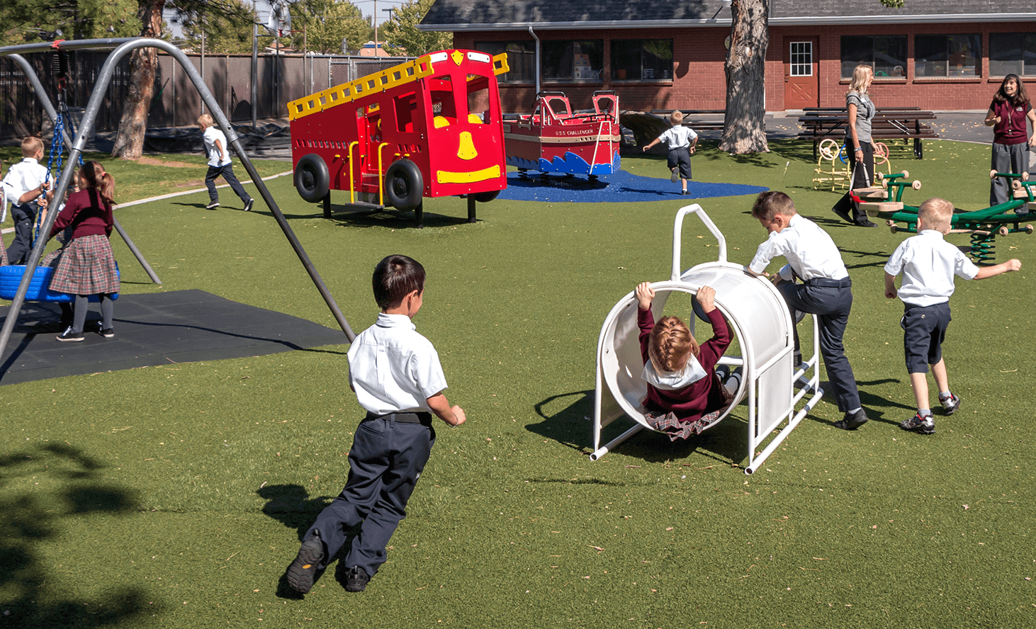 Preschool Playground Fun | Challenger School - West Jordan | Private School In West Jordan, Utah