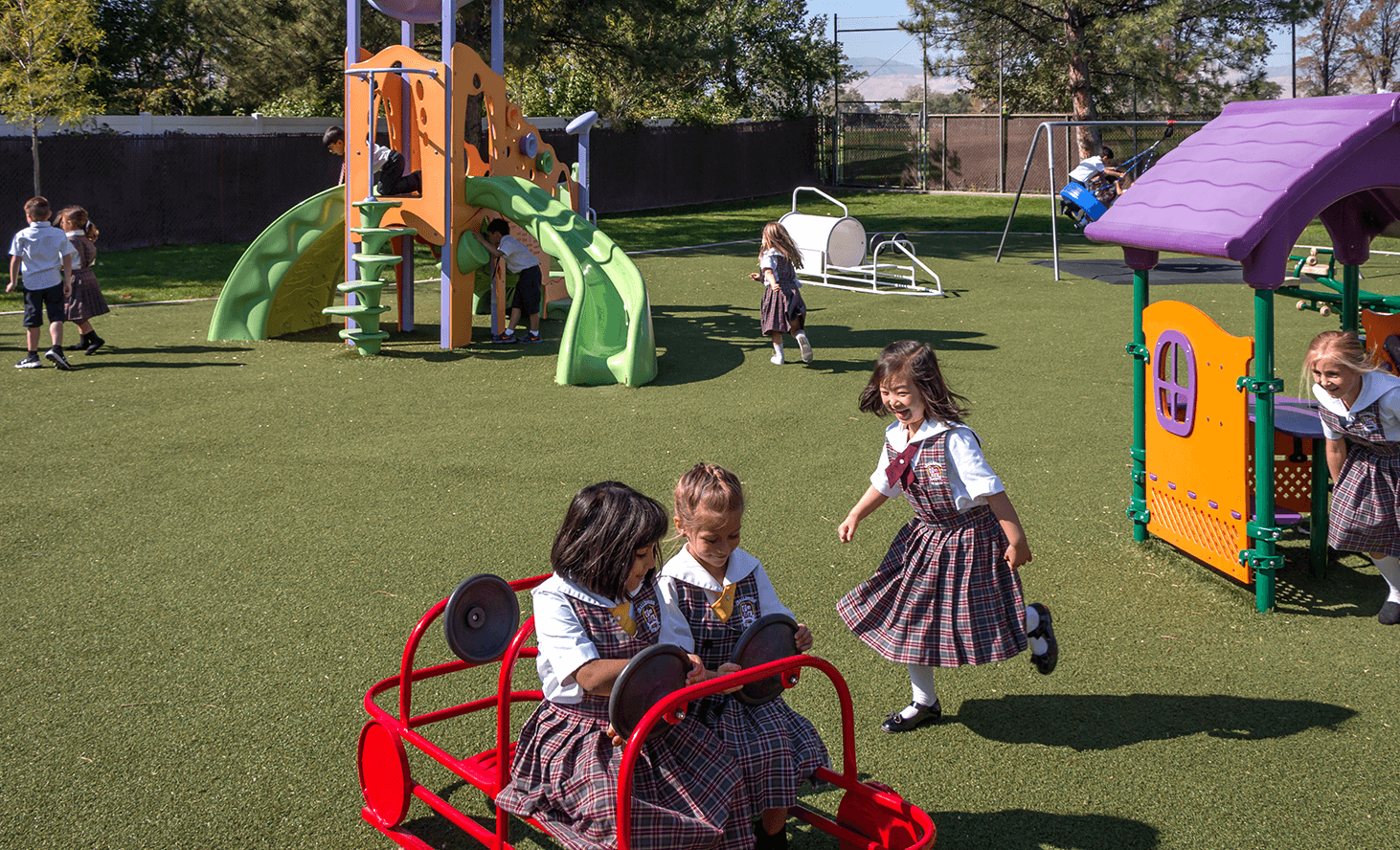 Preschool Playground Slide | Challenger School - West Jordan | Private School In West Jordan, Utah