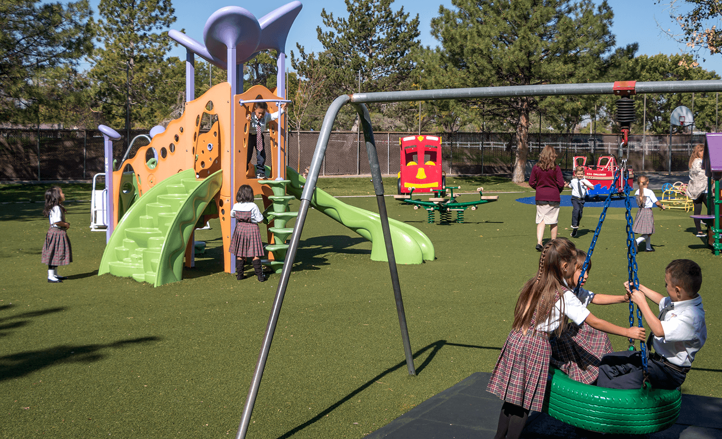 Preschool Playground Swing | Challenger School - West Jordan | Private School In West Jordan, Utah