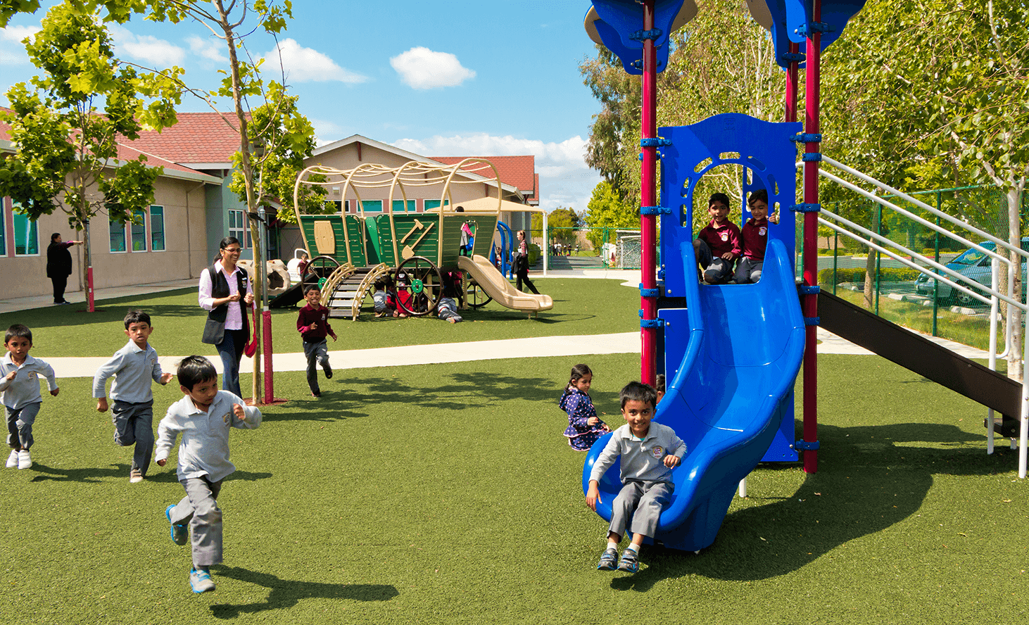 Playground Slide | Challenger School - Ardenwood | Private School In Newark, California