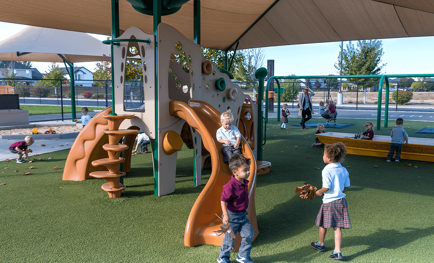 Preschool Playground Fun | Challenger School - Everest | Private School In Meridian, Idaho