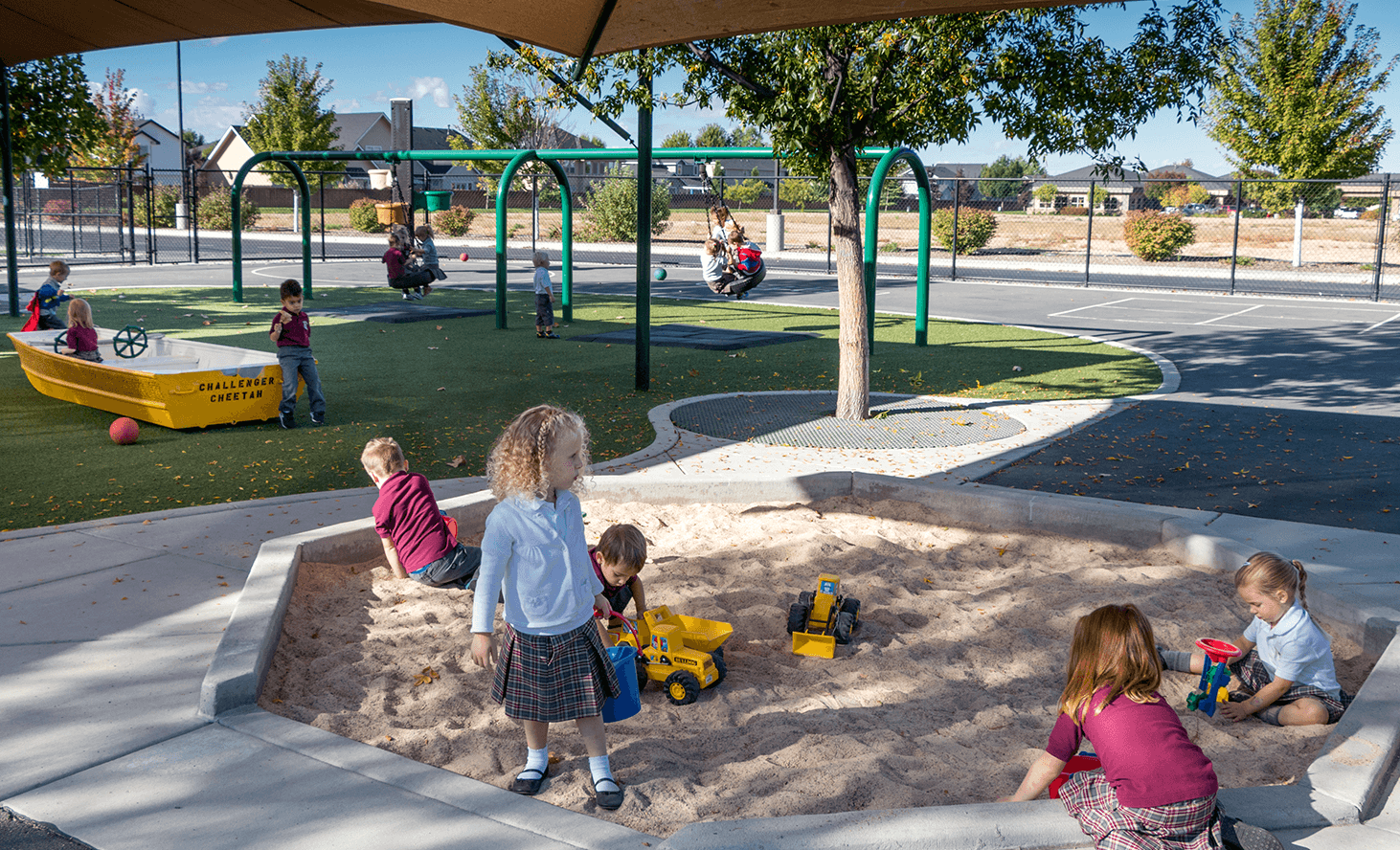Playground Sandbox | Challenger School - Everest | Private School In Meridian, Idaho