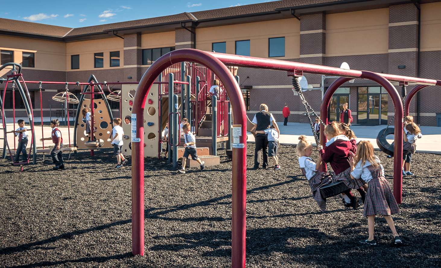 Playground Swing | Challenger School - Everest | Private School In Meridian, Idaho