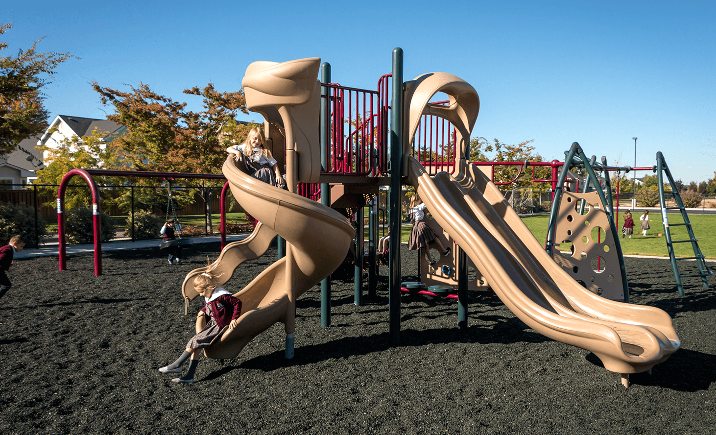 Playground Slide | Challenger School - Everest | Private School In Meridian, Idaho