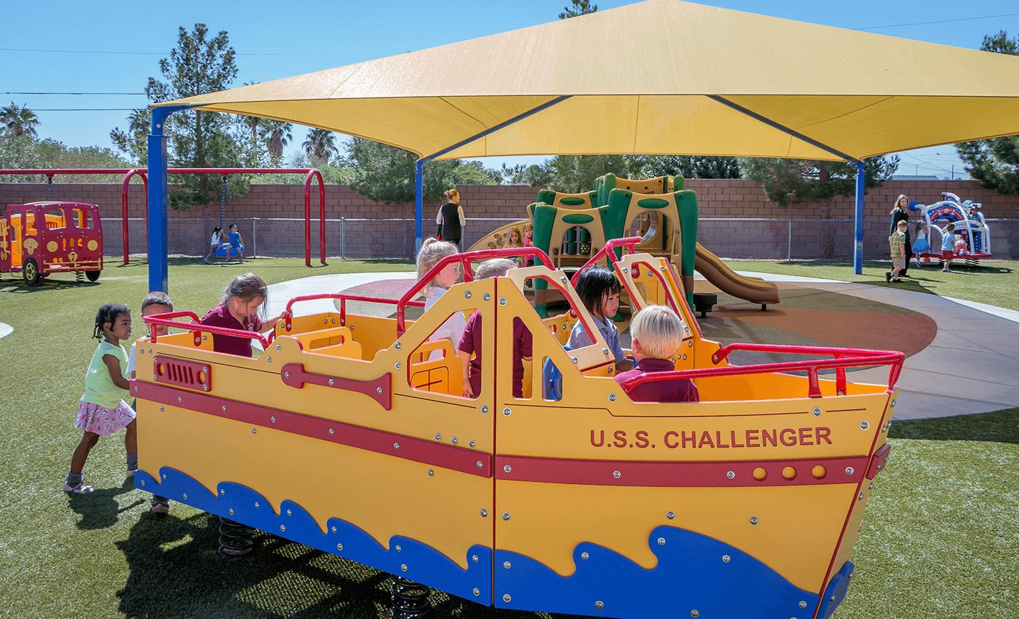 Playground Boat | Challenger School - Los Prados | Private School In Las Vegas, Nevada