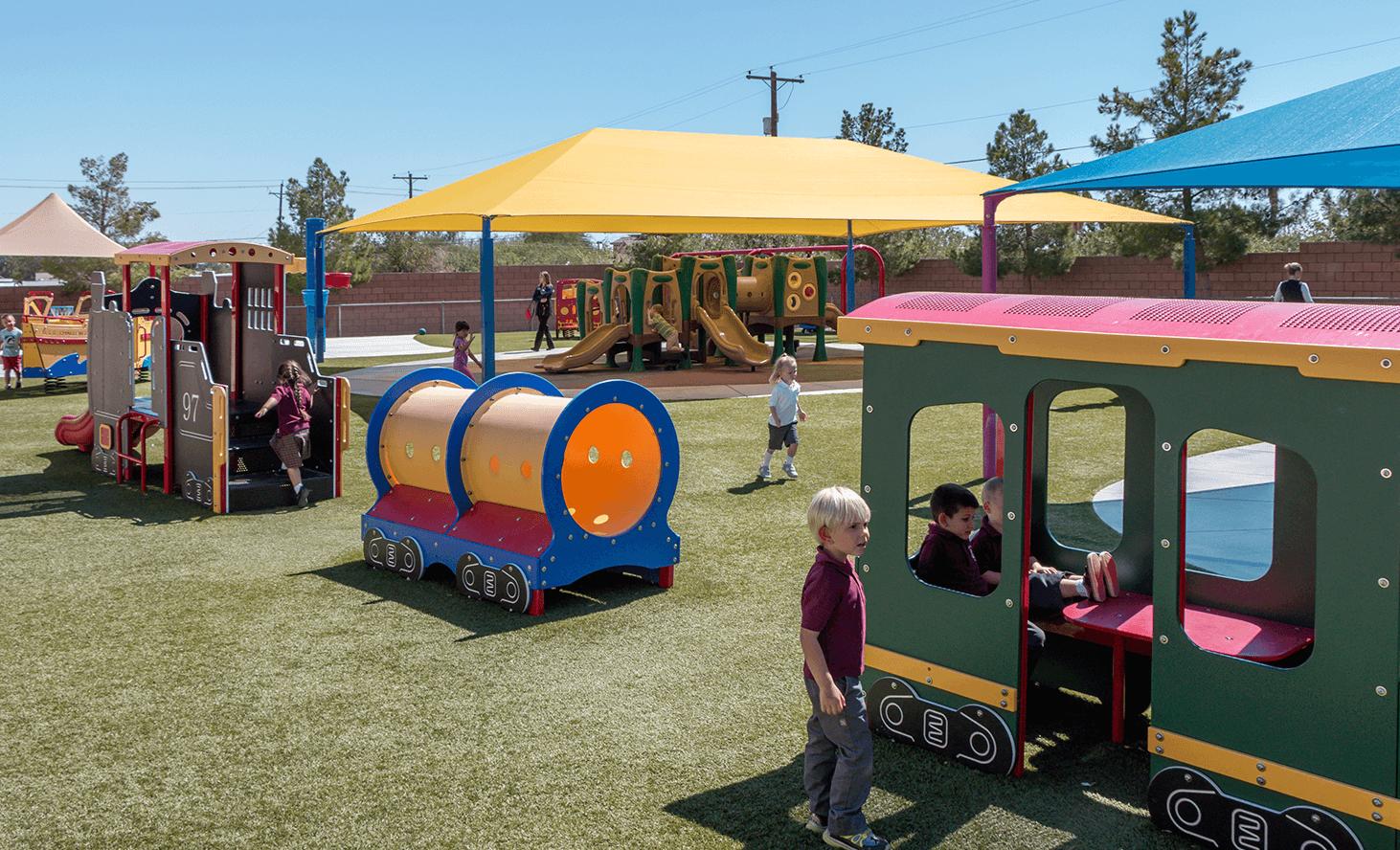 Preschool Playground | Challenger School - Los Prados | Private School In Las Vegas, Nevada