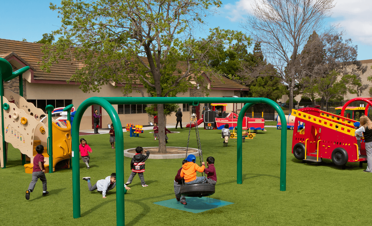 Playground Swing | Challenger School - Newark | Private School In Newark, California