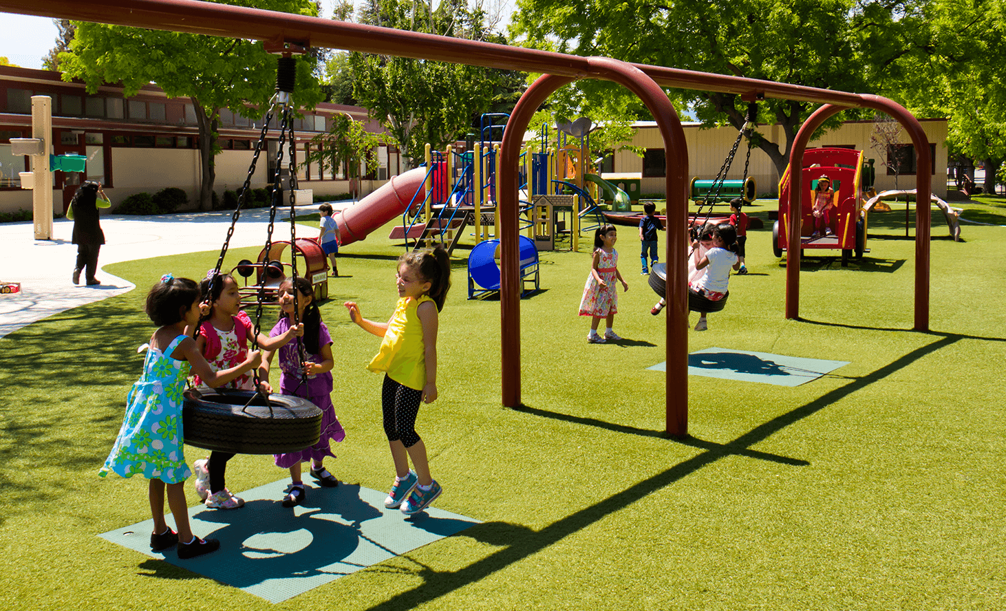 Playground Swing | Challenger School - Strawberry Park | Private School In San Jose, California