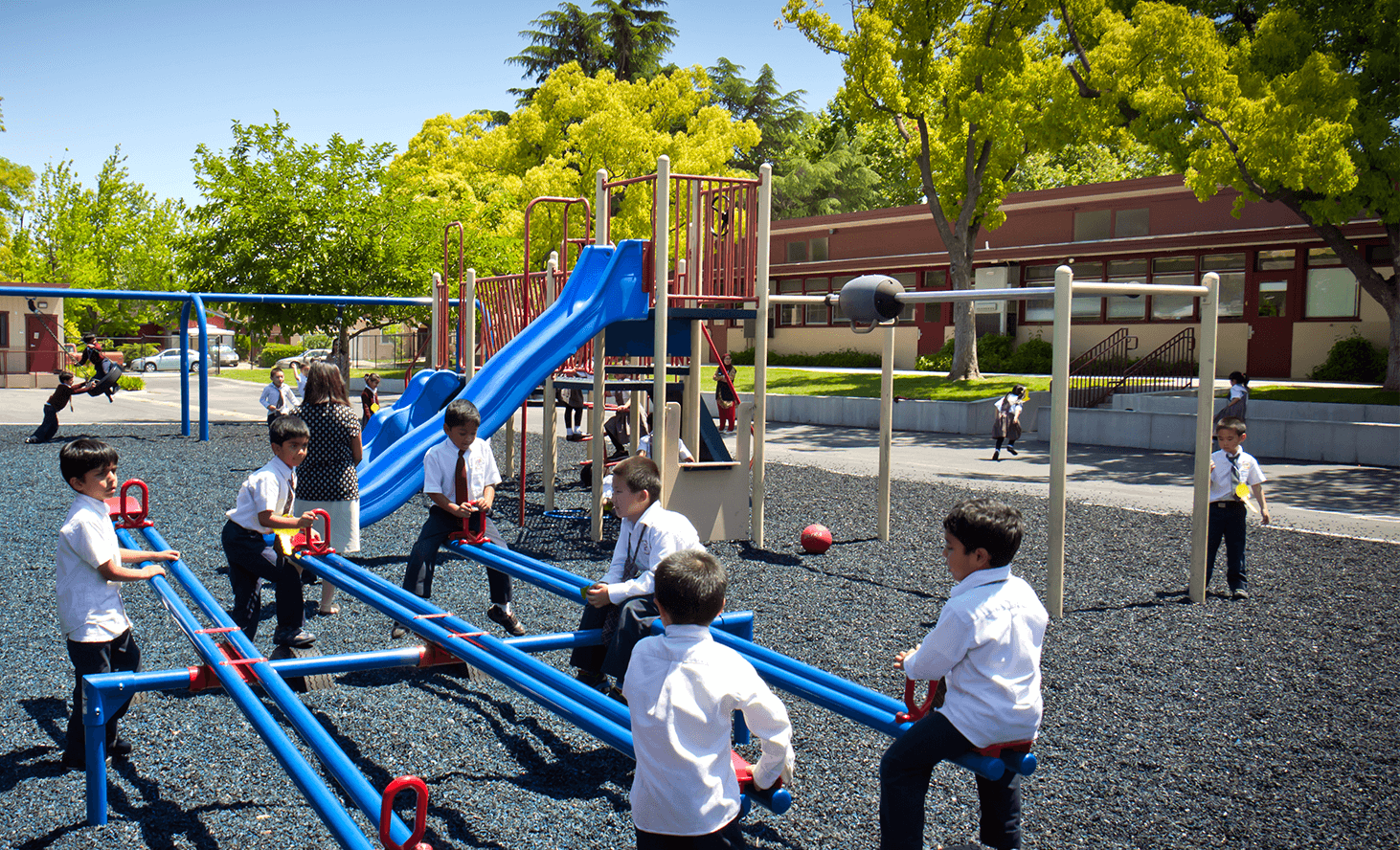 Playground Seesaw | Challenger School - Strawberry Park | Private School In San Jose, California